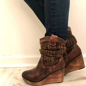 Bed Stu handcrafted leather scrunched sweater boot